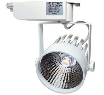 1 FASE LED TRACKLIGHT 12W WHITE BODY 6000k/daglicht