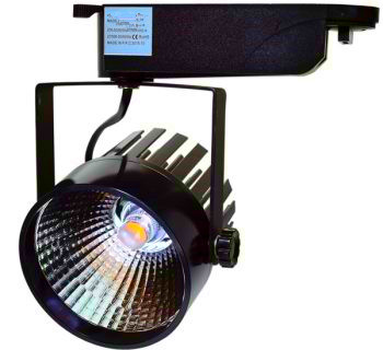 1 FASE LED TRACKLIGHT 12W BLACK BODY 4500k/Neutraal wit
