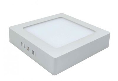 18W LED downlight opbouwpaneel vierkant 225x225mm 2800k/warmwit