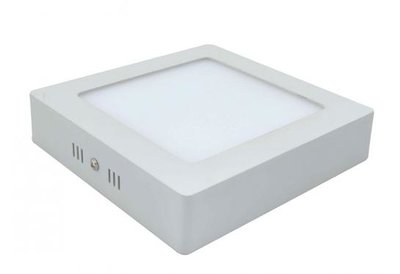 18W LED downlight opbouwpaneel vierkant 225x225mm 6000k/daglicht