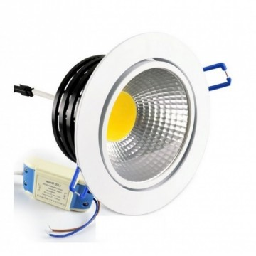 LED COB INBOUWSPOT 7W 3000K/WARMWIT