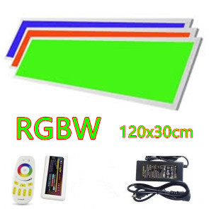 LED Paneel 120x30cm RGBWWW 48w complete set