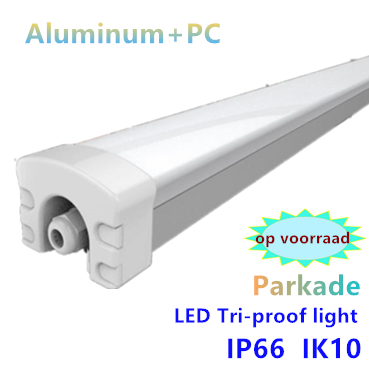LED Tri-proof light Parkade prof. Alu 120cm  40w -4000k Neutraalwit