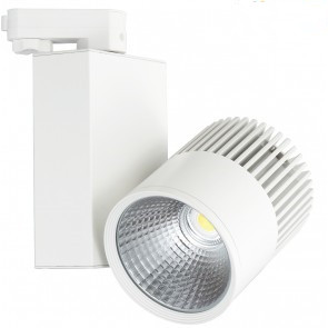 3 FASE LED RAILSPOT 30w WHITE BODY 3000k/warmwit
