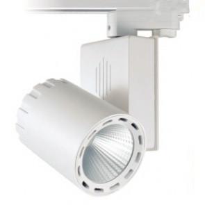 Basic 3 FASE LED RAILSPOT 70w WHITE BODY 3000k/warmmwit