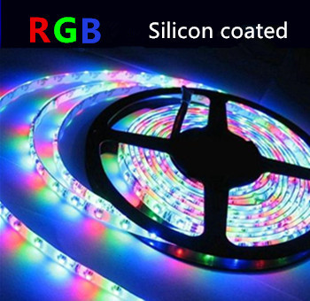 LED STRIP RGB Silicon 24v SMD5050 60 LEDs/m 5 meter rol