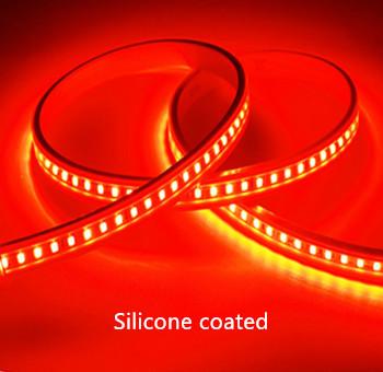 Silicone LED STRIP Rood 12v  SMD 2835 60 LEDs/m  5 meter rol