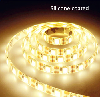 LED STRIP silicon 12v  SMD 2835 60 LEDs/m 2700K/Warmwit 5 meter rol * PROFESSIONAL