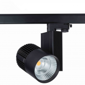 3 FASE LED RAILSPOT Prof. 40w Black Body 3000k/Warmwit
