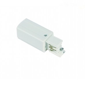 Power connector  * 3 fase rail- wit