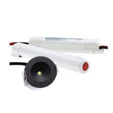 ANPHON PRO  led noodverlichting 3W  Ø42,5mm 110lm zwart afdekring