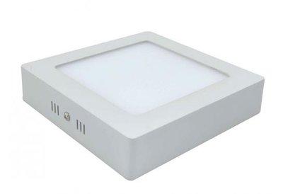 18w led downlight opbouwpaneel vierkant 225x225mm 6000kdaglicht