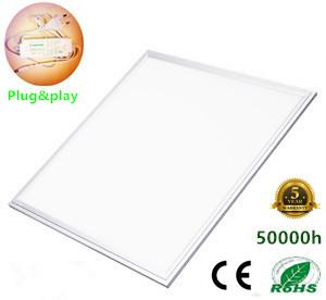 LED Paneel 60x60cm Basic complete incl. Netsnoer 3000k/warmwit *Flikker vrij