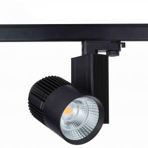 3 FASE LED RAILSPOT Prof. 40w Black Body 3000k/Warmwit